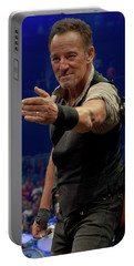 Portable Battery Charger featuring the photograph Bruce Springsteen. Pittsburgh, Sept 11, 2016 by Jeff Ross
