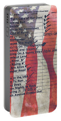 Bruce Springsteen Setlist At Rock In Rio Lisboa 2012 Portable Battery Charger by Marco Oliveira
