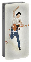Bruce Springsteen Typography Art Portable Battery Charger