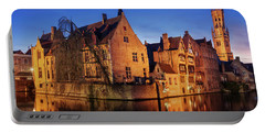 Bruges Architecture At Blue Hour Portable Battery Charger