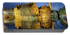 Brugge Twilight Portable Battery Charger by JR Photography