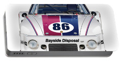 Brumos Porsche 935 Illustration Portable Battery Charger by Alain Jamar