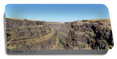 Portable Battery Charger featuring the photograph Bruneau Canyon Overlook, Idaho by Dart and Suze Humeston