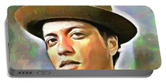 Bruno Mars Portable Battery Charger by Wayne Pascall