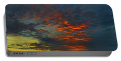 Portable Battery Charger featuring the photograph Brunswick Sky Line by Laura Ragland
