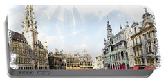 Brussels Grote Markt  Portable Battery Charger by Tom Cameron