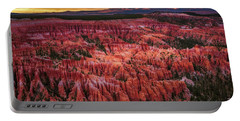 Bryce Canyon In The Glow Of Sunset Portable Battery Charger