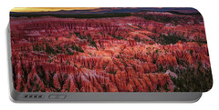 Portable Battery Charger featuring the photograph Bryce Canyon In The Glow Of Sunset by John Hight