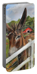 Bubba - Steals The Show -donkey Portable Battery Charger by Jan Dappen