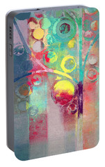 Portable Battery Charger featuring the painting Bubble Tree - 285l by Variance Collections