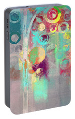 Portable Battery Charger featuring the digital art Bubble Tree - 285r by Variance Collections