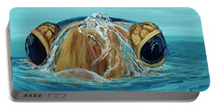 Portable Battery Charger featuring the painting Bubbles by Darice Machel McGuire