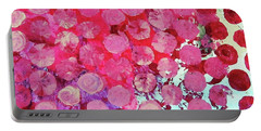 Portable Battery Charger featuring the mixed media Bubbles by Mary Ellen Frazee
