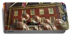 Bubbles Of New York History - Photo Collage Portable Battery Charger