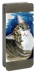 Bubbles - Tabby Cat Painting Portable Battery Charger