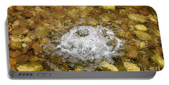 Bubbling Water In Rock Fountain Portable Battery Charger