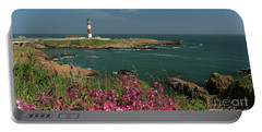 Buchan Ness Lighthouse And Spring Flowers Portable Battery Charger