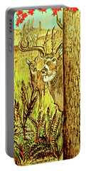 Buck And Deer  Portable Battery Charger by Patricia L Davidson