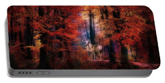 Buck In The Autumn Woods Portable Battery Charger
