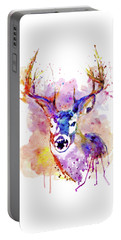 Portable Battery Charger featuring the mixed media Buck by Marian Voicu