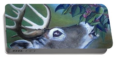 Portable Battery Charger featuring the painting Buck by Mary Ellen Frazee