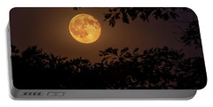 Portable Battery Charger featuring the photograph Buck Moon 2016 by Everet Regal