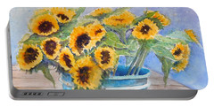Bucket Of Sunflowers Portable Battery Charger