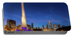 Buckingham Fountain At Dusk Portable Battery Charger