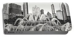 Buckingham Fountain Drawing Portable Battery Charger