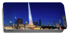 Portable Battery Charger featuring the photograph Buckingham Fountain by Sebastian Musial