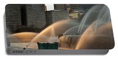 Buckingham Fountain Sidelight  Portable Battery Charger by Steve Gadomski