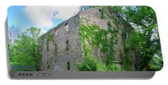 Portable Battery Charger featuring the photograph Bucks County Pa - Bridgetown Millhouse Ruins by Bill Cannon