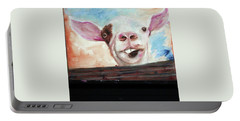 Bucktooth'd Goat Part Of Barnyard Series Portable Battery Charger