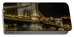 Portable Battery Charger featuring the photograph Budapest Chain Bridge by Steven Sparks