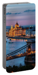 Budapest City At Dusk Portable Battery Charger