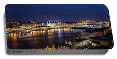 Budapest City By Night In Hungary Portable Battery Charger