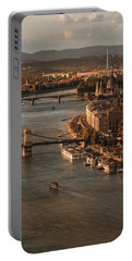 Portable Battery Charger featuring the photograph Budapest In The Morning Sun by Jaroslaw Blaminsky