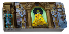 Buddha At Swedagon Pagoda Portable Battery Charger