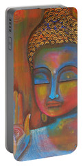 Buddha Blessings Portable Battery Charger by Prerna Poojara