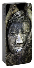 Portable Battery Charger featuring the photograph Buddha Head In Banyan Tree by Adrian Evans