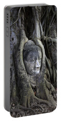 Buddha Head In Tree Portable Battery Charger