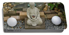 Buddha In The Garden Portable Battery Charger