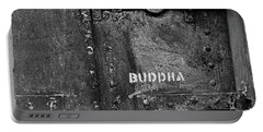 Buddha Portable Battery Charger by Laurie Stewart