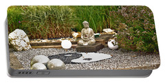 Buddha Looks At Yin And Yang Portable Battery Charger