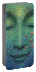 Buddha Smile Portable Battery Charger by Sue Halstenberg