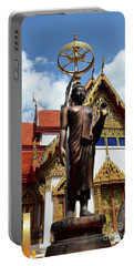 Buddha Statue With Sunshade Outside Temple Hat Yai Thailand Portable Battery Charger