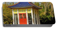 Portable Battery Charger featuring the photograph Buddha Temple by Helen Haw