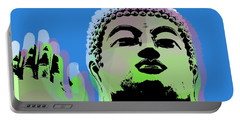 Portable Battery Charger featuring the digital art Buddha Warhol Style by Jean luc Comperat