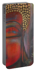 Buddha With Floating Lotuses Portable Battery Charger by Prerna Poojara