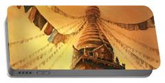 Buddhist Stupa- Nepal Portable Battery Charger by Ryan Fox
